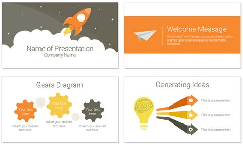 Rocket Powerpoint Template Presentationdeck Com What Is A Template In Powerpoint