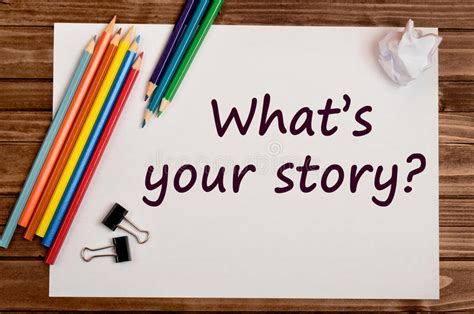 Whats Your Story by Question What S Your Story Stock Photo Image 69491876