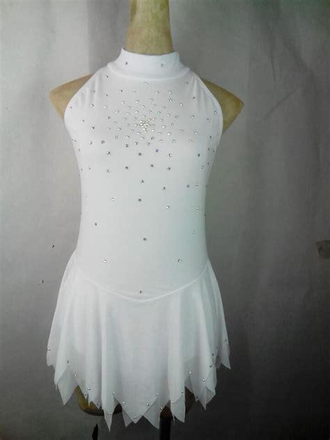 23353 White Figure 1 white skating competition dress cheap figure