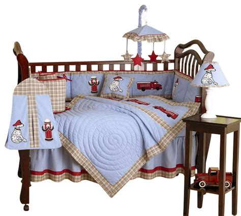 Frankie S Fire Truck 9 Piece Crib Bedding Set Firetruck Crib Bedding