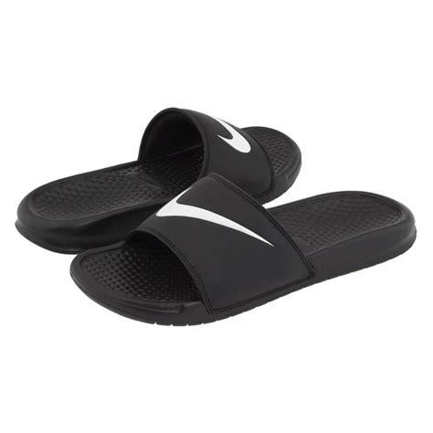 nike slide sandals for new mens nike benassi swoosh black slide sandals flip