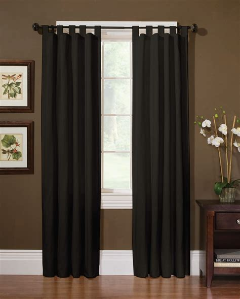 sailcloth drapes cotton sailcloth panel black smart and stylish with kmart