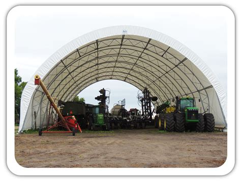Hoop Sheds by Hoop Barns For Livestock Equipment And Grain Storage