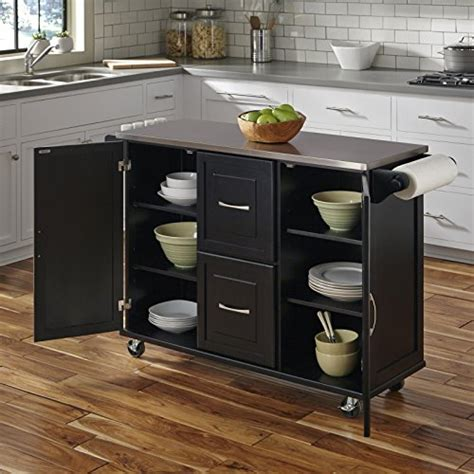 amazon com home styles 4515 95 patriot kitchen cart black black my home