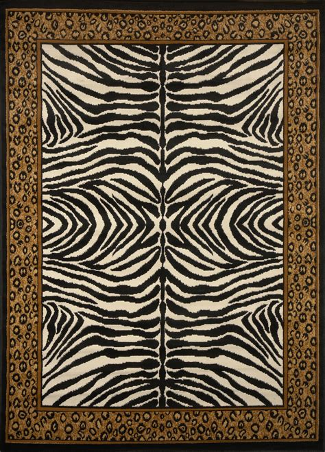 Area Rugs Animal Print Modern Leopard Animal Print Area Rug 8x11 Zebra Safari Carpet Actual 7 8 X10 7 Quot Ebay