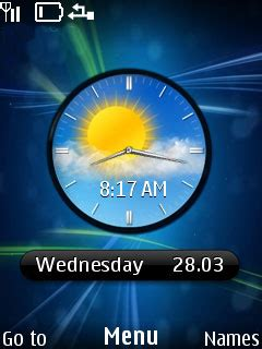 nokia 110 clock themes download blue nokia clock mobile theme