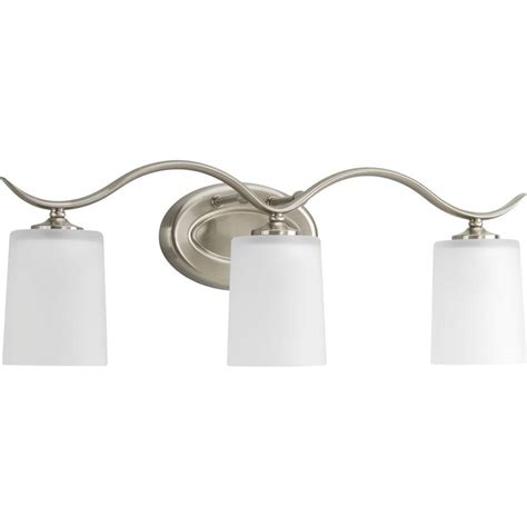 Progress Lighting Inspire Collection 3 Light Brushed 3 Light Brushed Nickel Vanity Fixture