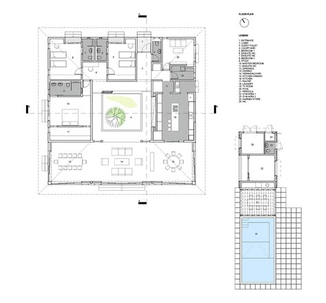 e plans gallery of courtyard house rethink studio 14