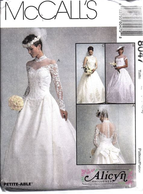 wedding dress pattern making books 8047 uncut vintage mccalls sewing pattern misses bridal