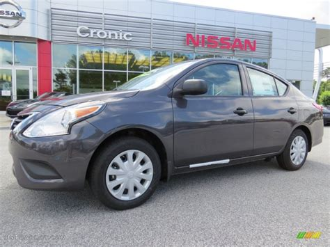 gray nissan 2015 amethyst gray nissan versa 1 6 s plus sedan 94320555