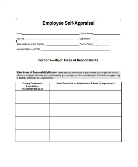 self appraisal form template 35 self assessment form templates pdf doc