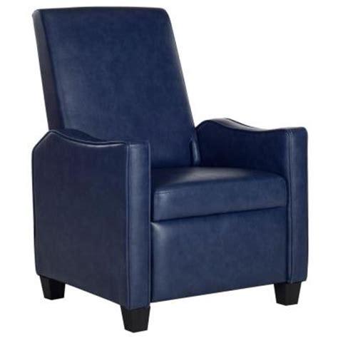Navy Leather Recliner Chair Safavieh Holden Bicast Leather Recliner Chair In Navy