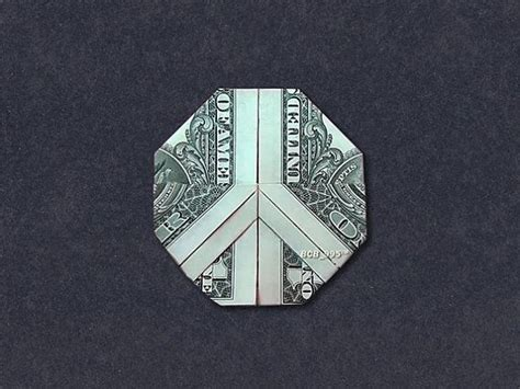 Origami Peace Sign - peace sign money origami dollar bill origami