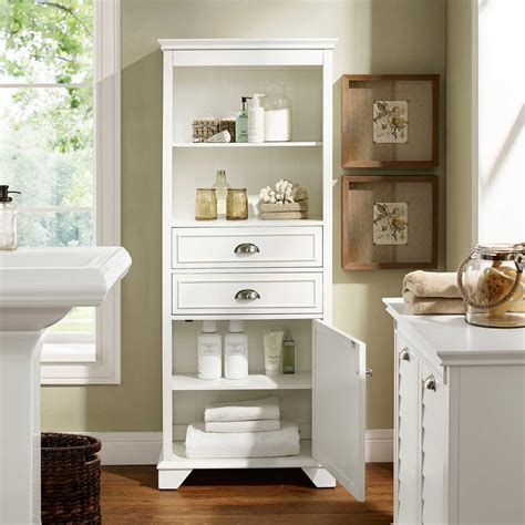 bathroom storage furniture white lydia 60 quot bathroom storage cabinet in white by