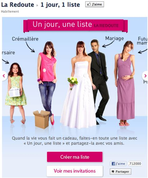 la redoute si鑒e social 5 exemples de pages r 233 ussies emarketinglicious