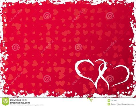imagenes vectores san valentin marco con los corazones vector del grunge de las tarjetas