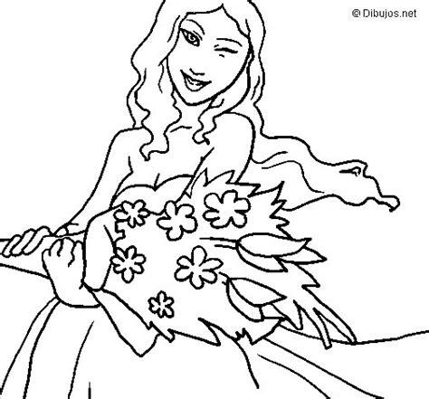 mazzo di fiori da colorare disegno di mazzo di fiori da colorare acolore
