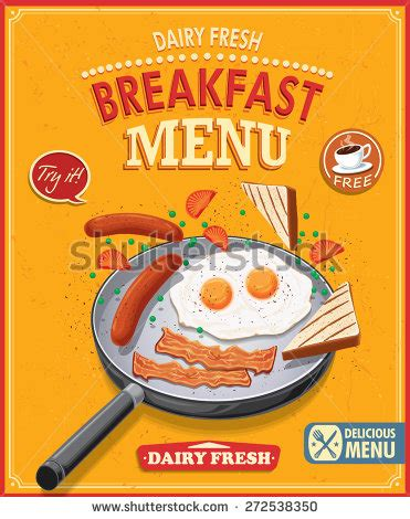 cover layout for english breakfast breakfast menu stock vectors vector clip art shutterstock
