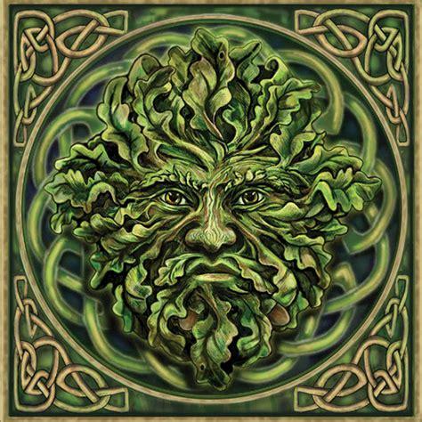 Gothic Home Decor Uk by Pagan Green Man Greeting Card