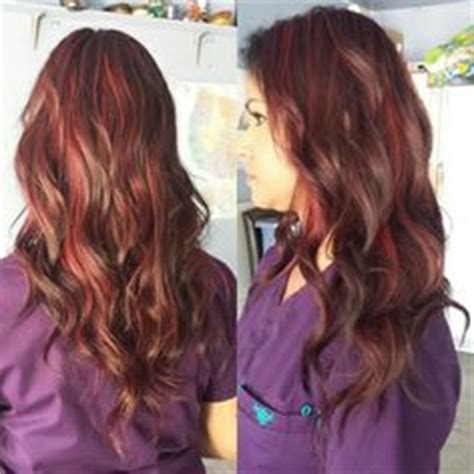 how many packets between a full hair foil and a partial foil dark brown hair with auburn highlights to red streaks in