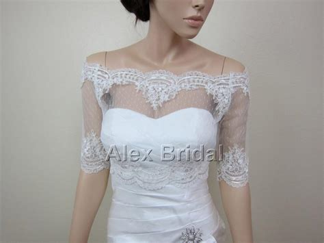 Small Dot Hair Accessories For Weddings by Sale Shoulder Dot Lace Bolero Jacket Bridal Bolero