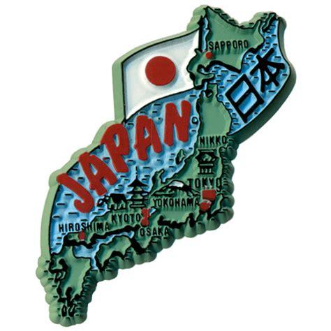 japan country map fridge magnet