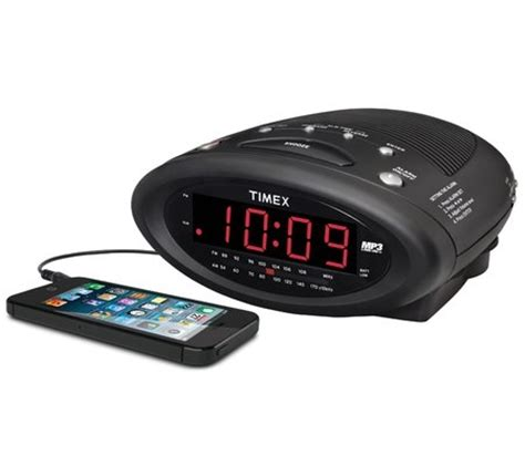 am fm alarm clock radio with nature sounds mp3 cable and single day alarm