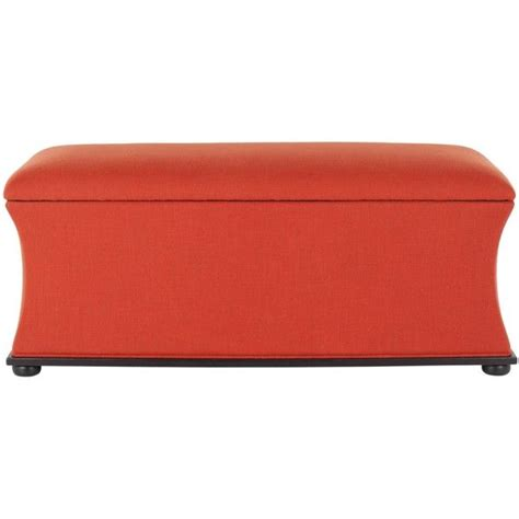 orange storage bench safavieh aroura orange storage bench 345 cad liked on