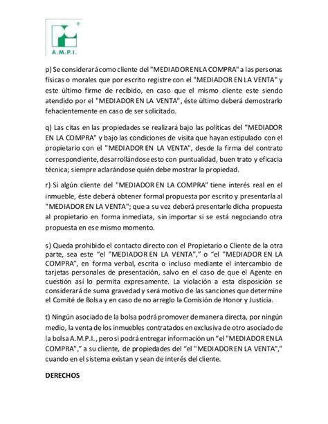 carta de oferta de bien inmueble propuesta borrador reglamento intercambio inmobiliario i