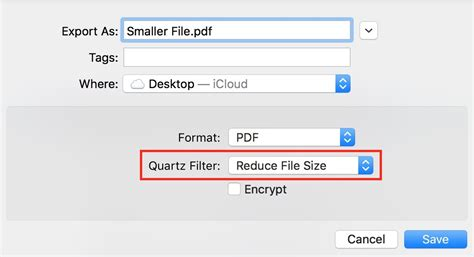 compress pdf quick macos reduce pdf file size in preview the mac observer