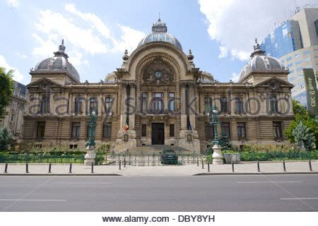 cec bank romania bucharest building stock photo royalty free image