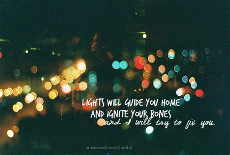 Lights Will Guide You Home Coldplay by Fix You Coldplay Emilymauricooper