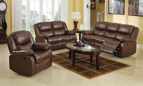 Leather Sofa Recliner Set Brown Bonded Leather Match Modern Reclining Sofa Loveseat Set