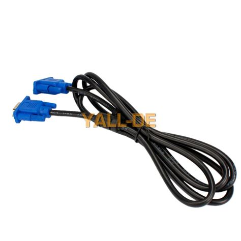 Kabel Vga Db15 Rgb Pin 15 To High Quality neu 1 8m 6ft svga 15 pin vga m m moniaufr lcd bildschirm