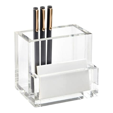 Acrylic Desk Organizer Acrylic Pencil Cup Card Organizer The Container Store