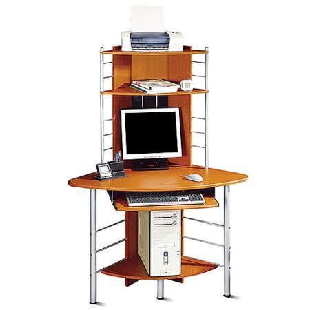 walmart corner desk corner tower computer desk cherry and silver walmart