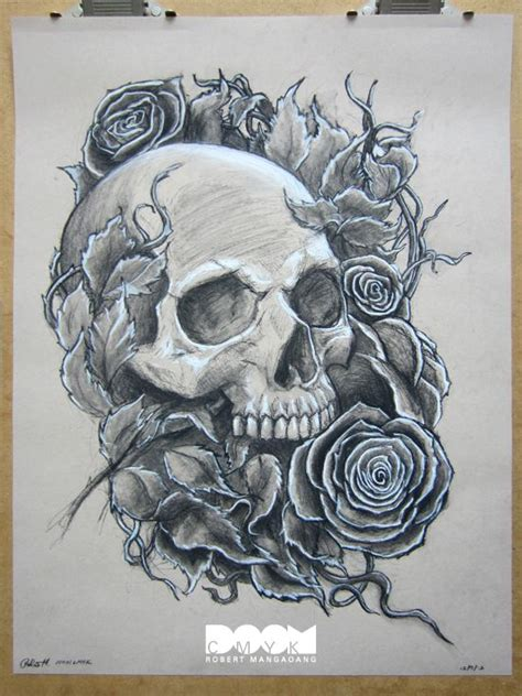 charcoal tattoo designs best 25 skull and drawing ideas on scull