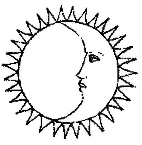 imagenes del sol y luna juntos dibujos del sol y la luna para colorear online dibujos