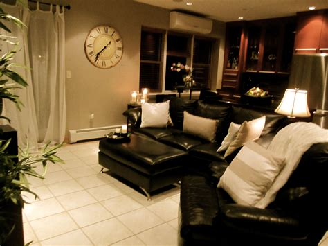 living room brighten  dark couches  light pillows