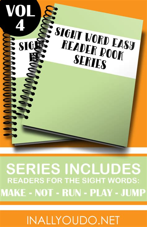 sight book three of the waters series volume 3 books sight word easy readers vol 4 make not run play jump
