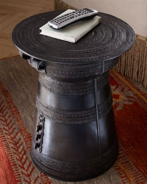 Drum Side Table Antique Drum Side Table