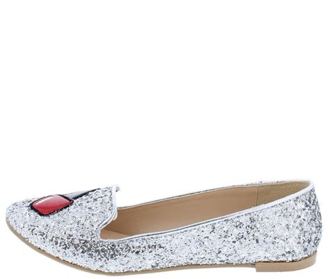 Fashion Flat Shoes Permata Silver salya864x silver glittery nail loafer flat shoes o