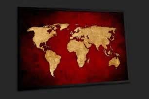 tableau d 233 coration murale carte du monde vintage sur
