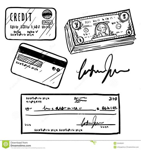 Credit Card Template Sketch Credit And Financial Objects Sketch Stock Image Image 23436261
