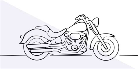 Simple Motorcycle Drawing At Getdrawings Com Free For