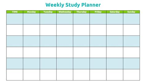 printable study planner common worksheets 187 printable revision timetable