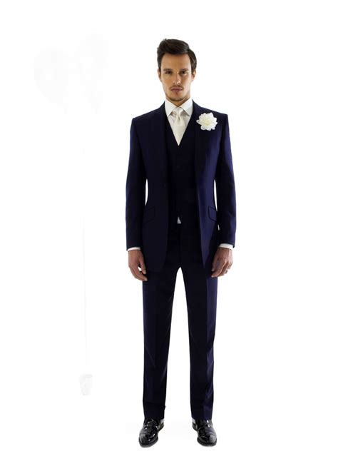 Wedding Mens Suits by Navy Wool Wedding Suit Wedding Dress From Marc Wallace