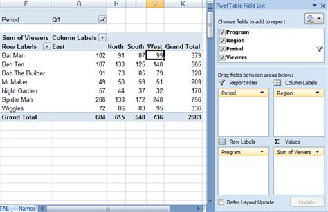 format report pivot table excel 2007 excel pivot tables explained my online training hub