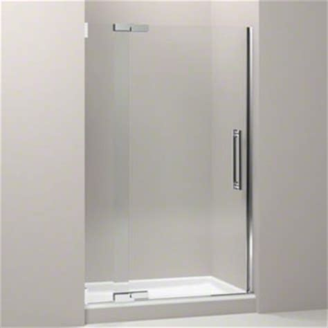 Kohler Frameless Shower Door Kohler K 705704 L Shp Purist Frameless Pivot Shower Door With 3 8 Quot Thick Clear Glass