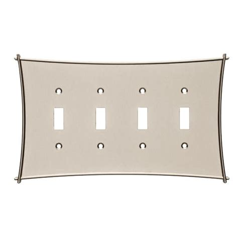 restoration hardware light switch plates bellaire quad switch plate vintage nickel 144065